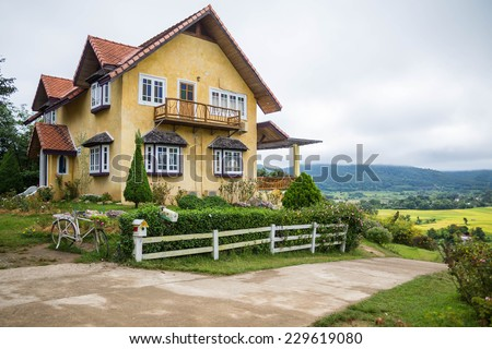 Beautiful House in Pai,Thailand - stock photo