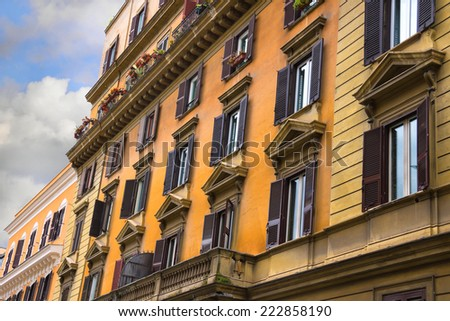 Beautiful house  in Rome, Italy - stock photo