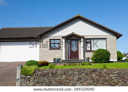 Beautiful House with garage, England - stock photo