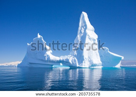 Beautiful Iceberg, Antarctica  - stock photo
