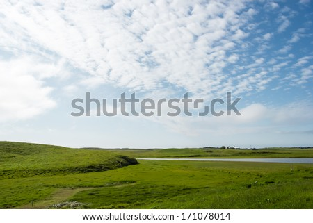 Beautiful Iceland, good summer weather - stock photo