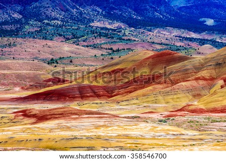 Beautiful Image of Painted Hills National Monument in Oregon, USA