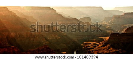 Beautiful image of the Grand Canyon at sunset - stock photo