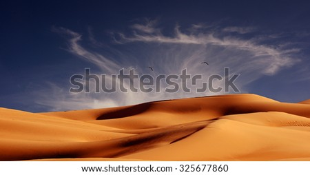 Beautiful Image Of The Imperial Sand Dunes along the mexican Border near San Diego, California.