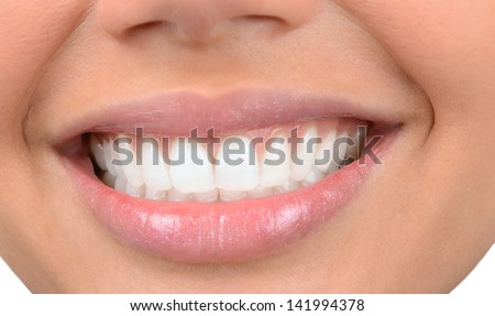 Beautiful Image Of Very Beautiful Teeth isolated on white