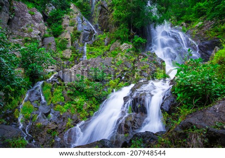 Beautiful in Deep Forest waterfall Krok I Dok,Saraburi,Thailand.