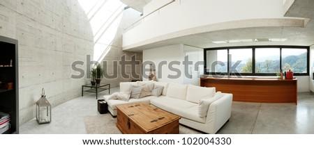Beautiful interior modern home - stock photo