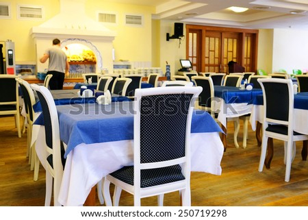 Beautiful interior of the restaurant