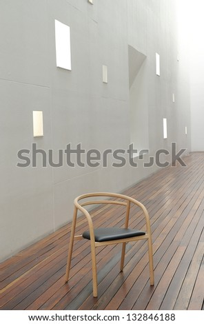 beautiful interior with modern chair - stock photo