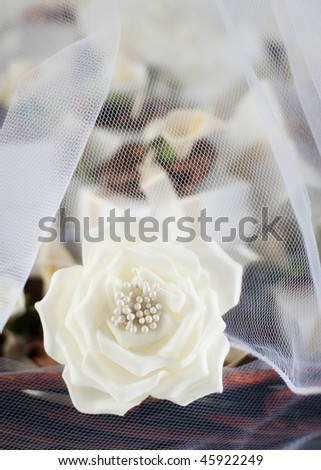 Beautiful intricate wedding decorations - stock photo