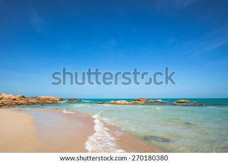 Beautiful island beach - stock photo