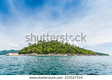 Beautiful island beach and sea in Andaman sea, Thailand. Called Koh Lipe island. - stock photo