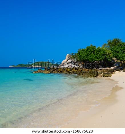 Beautiful island in pattaya province (Thailand.) - stock photo