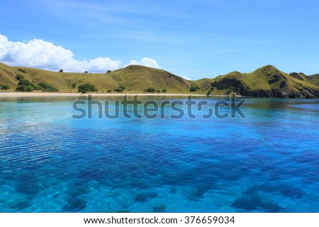 Beautiful island in Sumbawa Indonesia  - stock photo