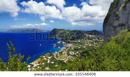 beautiful Italy - Capri island - stock photo