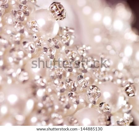 Beautiful jewelry background - stock photo