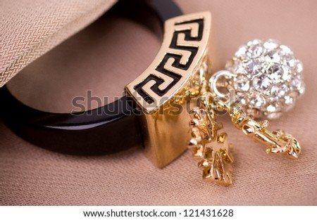 Beautiful jewelry on background - stock photo