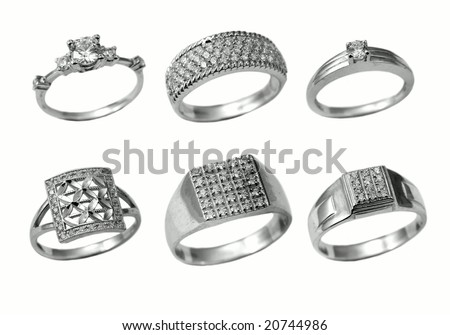 Beautiful jewelry rings