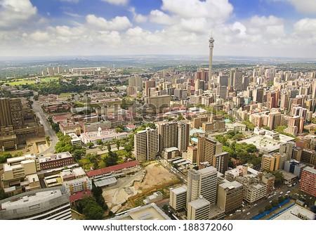 Beautiful Johannesburg Skyline - stock photo