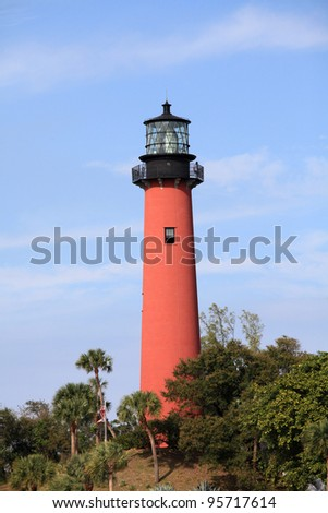 Beautiful Jupiter Lighthouse and waterway in South Florida