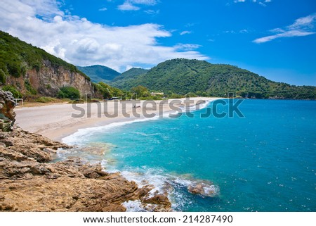 Beautiful Karavostasi beach near Syvota town. Ionian sea. Greece. - stock photo