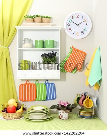 Beautiful kitchen interior - stock photo