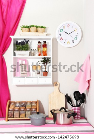 Beautiful kitchen interior - stock photo