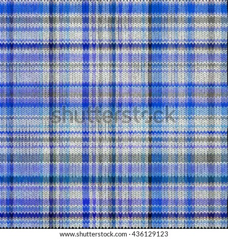 beautiful  knitted tartan pattern for your design