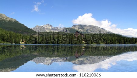 Beautiful Lake in High Tatras - Strbske pleso