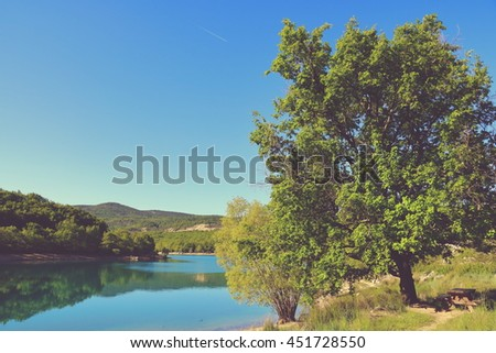 Beautiful Lake in Southern France, Provence