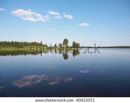 Beautiful lake in the north of Karelia, Russia