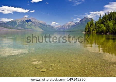 Beautiful Lake McDonald - stock photo