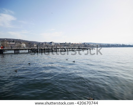 Beautiful Lake of  Zurich