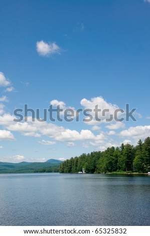 Beautiful Lake on a Clear Summer Day - stock photo