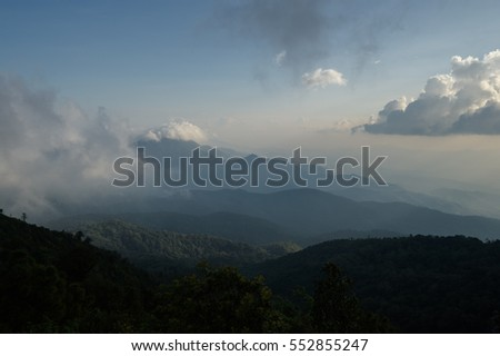 Beautiful landscape at Doi inthanon national park, Chiang mai, Thailand