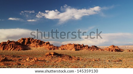 Beautiful landscape at Valley of fire in Nevada, USA - stock photo