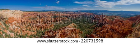 beautiful landscape bryce canyon national park utah panorama - stock photo