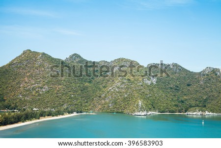 beautiful landscape for  background Thailand