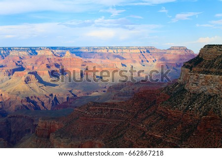 Beautiful Landscape from Grand Canyon National Park, Arizona. USA panorama. Geological formations