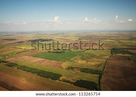 Beautiful landscape from the sky
