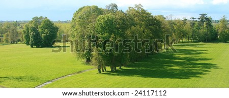 Beautiful landscape in nature (panoramic view). - stock photo