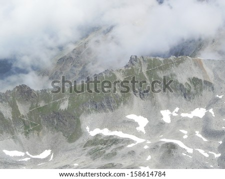 beautiful landscape in the alps