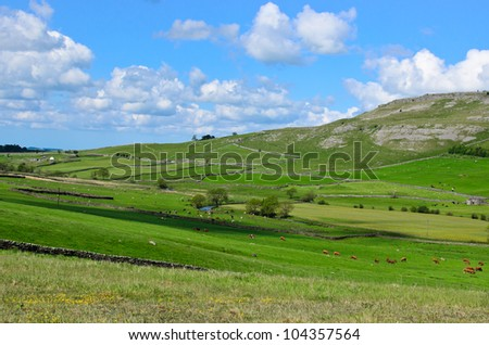 Beautiful landscape in the  Yorkshire Dales, England - stock photo