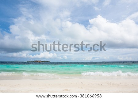 Beautiful landscape in tropical place. Turquoise ocean.