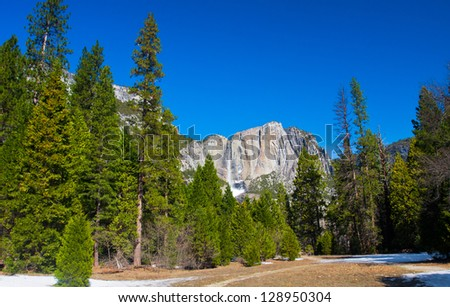 Beautiful Landscape in Yosemite National Park,California - stock photo
