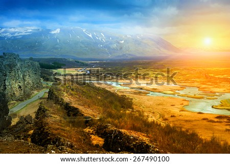 Beautiful Mountain Sunset Beautiful Landscape Mountains