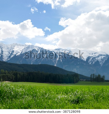 Beautiful landscape of Austrian Alps - stock photo