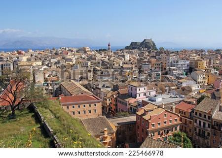 beautiful landscape of Corfu, Greece - stock photo