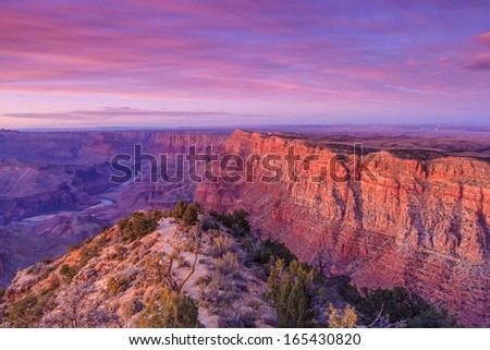 Beautiful Landscape of Grand Canyon from Desert View Point  - stock photo
