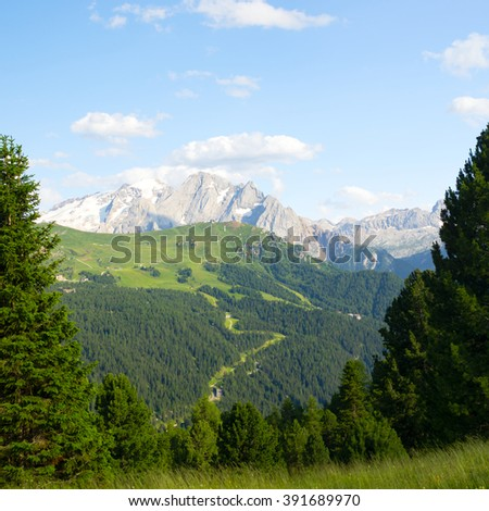Beautiful landscape of Italian Alps - stock photo